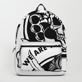 We Are The Good Guys! Born In 1959 With A Cool Graphic Of A Skull With Knife T-shirt Design Birthday Backpack
