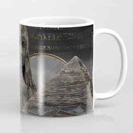 Cleopatra on Egyptian pyramids landscape Coffee Mug
