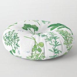 Kitchen Herbs Floor Pillow
