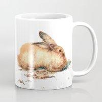bunny Mugs featuring Bunny by Ivanushka Tzepesh