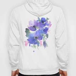 Blue Poppies and Wildflowers Hoody