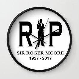 RIP ROGER MOORE Wall Clock