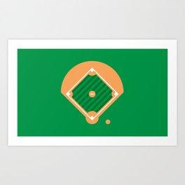 New York Normal: Old Man Softball. Art Print