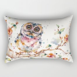 Yep, Cute Is My Middle Name (Owl) Rectangular Pillow