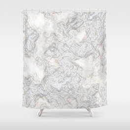 Paper Marble Shower Curtain