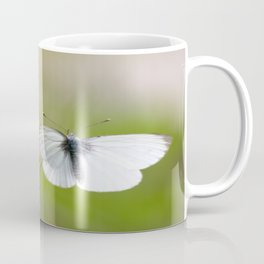 White Butterfly Natural Background Coffee Mug