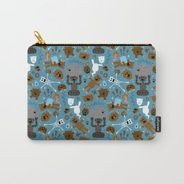 Crazy MonkeyTeddyBears Pattern Carry-All Pouch