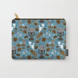 Crazy MonkeyTeddyBears Pattern Carry-All Pouch