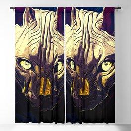 sphynx cat from hell vafn Blackout Curtain