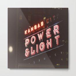 power and light Metal Print