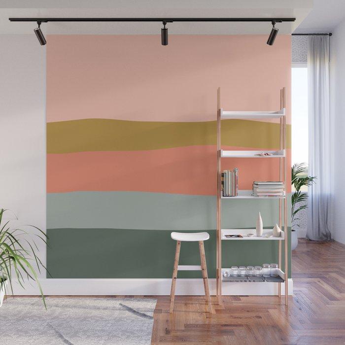 Zen Autumn Stripes Wall Mural