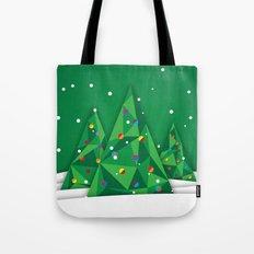 Vector Christmas Tree Tote Bag