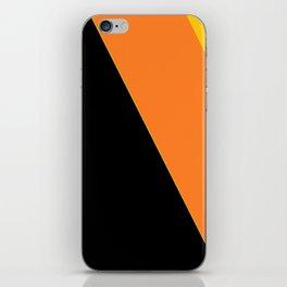Black, Orange, Yellow iPhone Skin