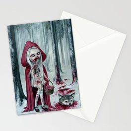 Little dead riding hood Stationery Cards
