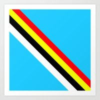 rave Art Prints featuring Rave by Naked N Pieces