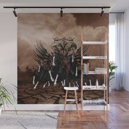 Awesome wild horses Wall Mural