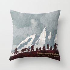 The fellowship of the ring Throw Pillow