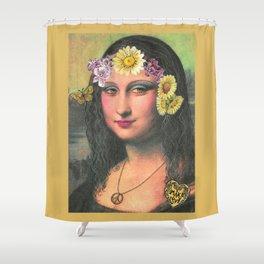 Hippie Gioconda Shower Curtain