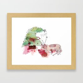 a satisfied christmas tree Framed Art Print