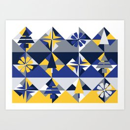 Geometric Winter Art Print