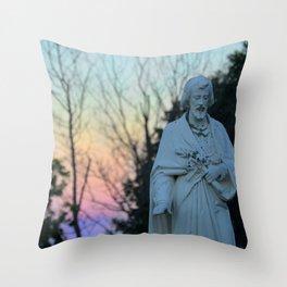 hush, my disciples Throw Pillow