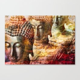 Buddhas red Canvas Print