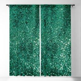 Sparkling EMERALD Lady Glitter #1 #shiny #decor #art #society6 Blackout Curtain