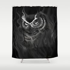 Owl Aflame Shower Curtain
