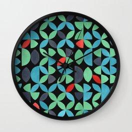 GARDEN SALAD, hand-painted pattern by Frank-Joseph Wall Clock