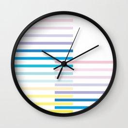 Summer Haze Stripes Wall Clock