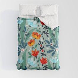 Wonderful Spring Flowers I Duvet Cover