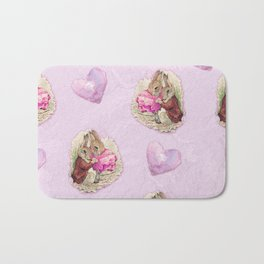 Love Bunnies Beatrix Potter pattern design Bath Mat