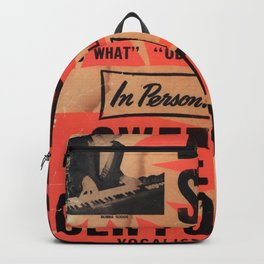 Bubba Suggs and his Organ - Vintage Concert Poster Backpack
