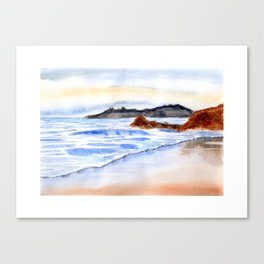 waves and wet sand Canvas Print