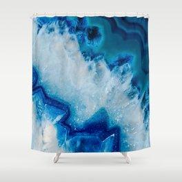 Royally Blue Agate Shower Curtain