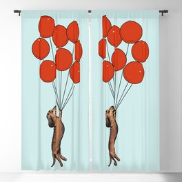 I Believe I Can Fly Dachshund Blackout Curtain