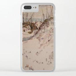 """ The Beach "" Clear iPhone Case"