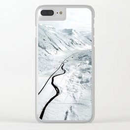flying over iceland Clear iPhone Case