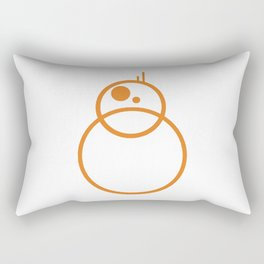 Minimal Trans BB8 Rectangular Pillow
