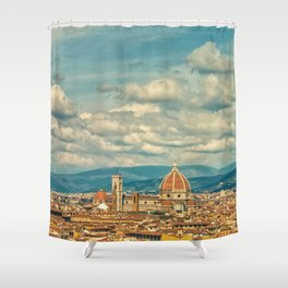 Duomo in Florence Skyline Shower Curtain