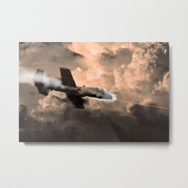 A-10 Tipping In Metal Print