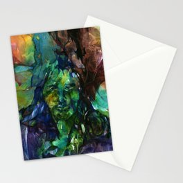 Green Man by Kathy Morton Stanion Stationery Cards