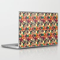 mouth Laptop & iPad Skins featuring mouth to mouth by bisualhart