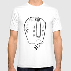 old head MEDIUM Mens Fitted Tee White
