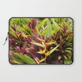 Red Ti Heliconia Ginger Tropical Garden Wailua Maui Hawaii Laptop Sleeve