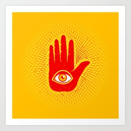 Hand and eye Art Print