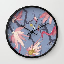 Feathers and charms pattern Wall Clock