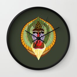 Mandrillus Sphinx Wall Clock