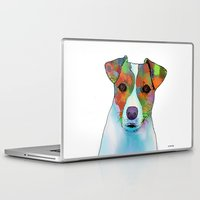 jack russell Laptop & iPad Skins featuring Jack Russell Dog by Marlene Watson