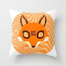 Kitsune ! Throw Pillow